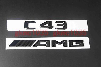 //////AMG Letters Trunk Emblem Badge Sticker For Benz C43 AMG Gloss Black C43