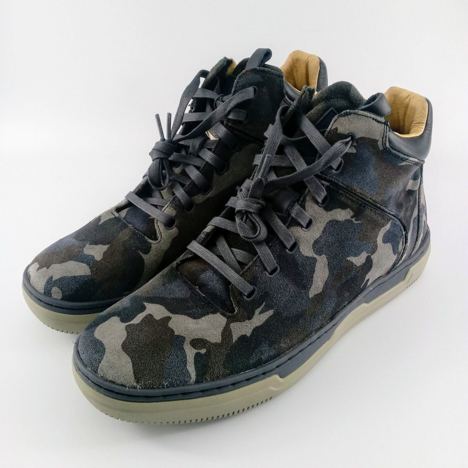 Mark Nason Los Angeles Double Cup Sneaker Boot - bluee Camo - 68597- Sz  9.5 & 12