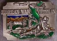 Military Belt Buckle metal Korean War Veteran NEW