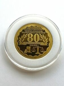 80-Piso Court of Appeals 80th Anniversary Commemorative Coin, BSP minted 2016