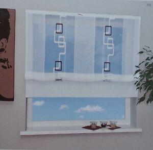 Details zu Raffrollo Mila transparentes Raffrollo Raffgardine für  Wohnzimmer Bad Küche
