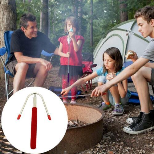Telescoping Roasting BBQ Fork Sticks Camping Campfire Marshmallow Hot Dog Skewer