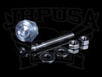Quik-latch 22mm Mini Latch Push Button Bumper/hood Fasteners Silver Pair