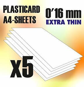 Plasticard Strip DOBLE-T Profile 2mm Styrene ABS Plastic Plastikard HIPS