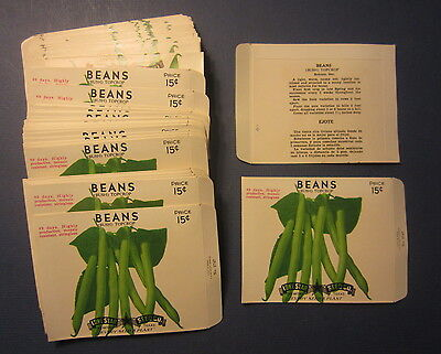Wholesale Lot of 100 Old Vintage Bush PEAS SEED PACKETS Lone Star Seed EMPTY