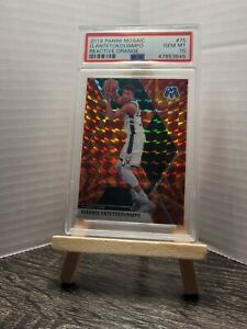 2019 Panini Reactive Orange Mosaic Prizm #75 Giannis Antetokounmpo Bucks PSA 10