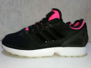 Adidas-Torsion-Zx-Flux-Baskets-Noir-Rose-Baskets-Decontractees-Taille-UK-6-5