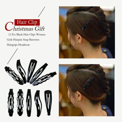 Fashion Snap Cute Kids Hair Clip Black Hairpin Christmas Gift Hair Barrette