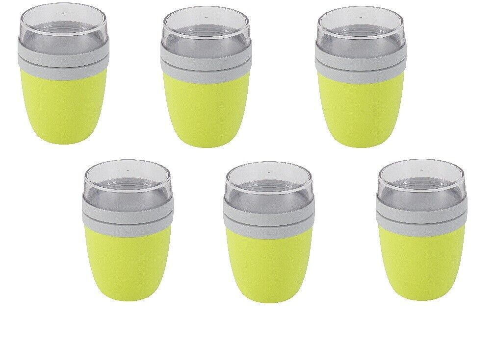 6x ROSTI MEPAL Lunch Pot Ellipse Lime 107648091200 des Céréales Tasse To Go Coque