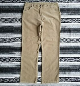 63117d4b37f Details about Woolrich Sz 14 Mid to High Rise Waist Straight Leg Stretch  Corduroy Pants Beige