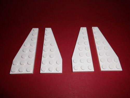 4 Flügelplatten 3x8 Lego 50304//50305 2x R.+2x L. in weiß aus 75051 7894 8088