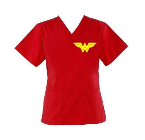 Wonder Woman Scrub Top