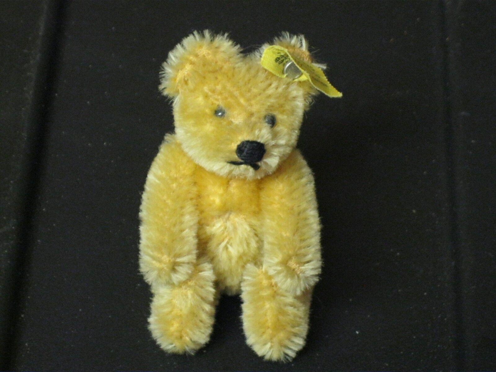 Steiff Teddy Bear Stuffed Teddy 3.5 Inch Bear Made in Germany RARE NEW W Tag