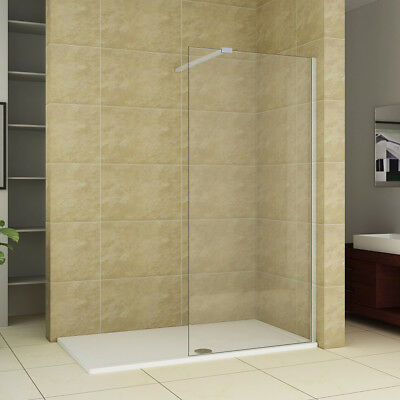 Walk In Wet Room Shower Enclosure Tall Cubicle Easyclean 10mm Glass Screen Panel