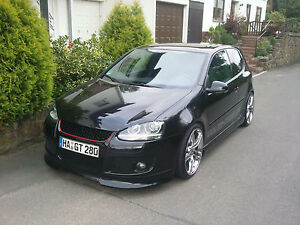 vw golf 5 v gti sto stange front k hlergrill clean neu ebay. Black Bedroom Furniture Sets. Home Design Ideas