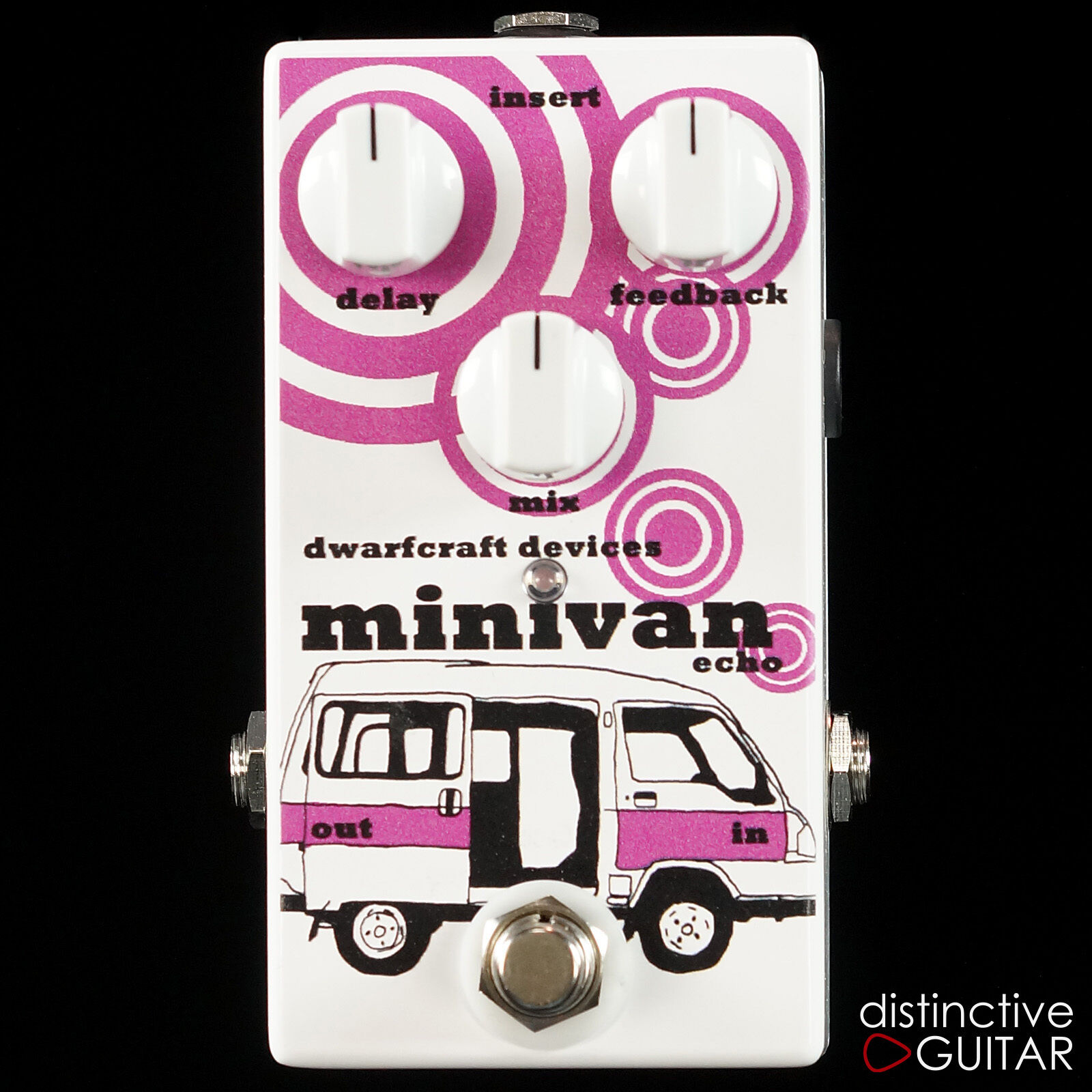 NEW DWARFCRAFT DEVICES MINIVAN ECHO   DELAY - HAND WIrot GUITAR EFFECTS PEDAL