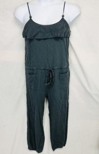 Mermaid Grey Jumpsuit Womens Size L Gauze Cropped