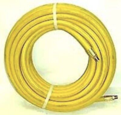 """Air Hose Continental YELLOW RUBBER 250psi 3//8/"""" x 25/' with brass fittings"""