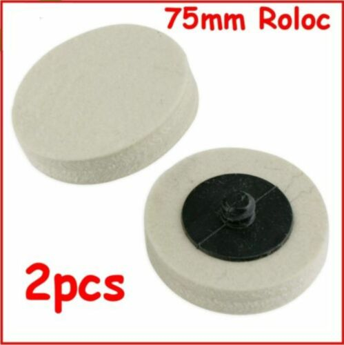 Roloc 75mm Felt Discs Smart Repair Polishing Discs 2pcs Free Postage