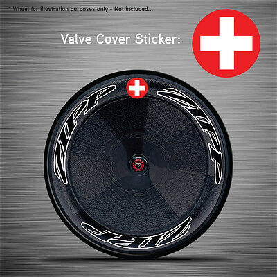 Zipp Hed Corima VCS045-6x Switzerland Flag Disc Wheel Valve Covers//Patches