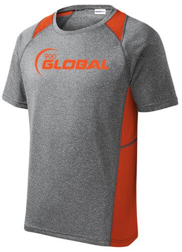 900 Global Men/'s Profit Bowling Performance Shirt Dri-Fit Heather Orange