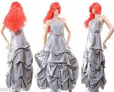 Robe de Soiree Longue Femme Mariage Ceremonie Bal + Etole GRISE 36 38 SCARLETT