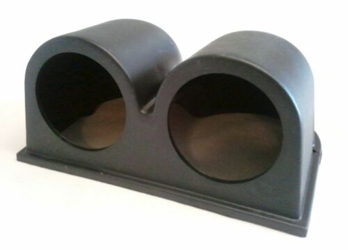 Double or Triple Dash board pods for 52mm gauges Universal BLACK Single