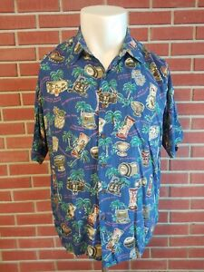 1b10c9e64 Image is loading Reyn-Spooner-Short-Sleeve-Button-Front-Hawaiian-Shirt-