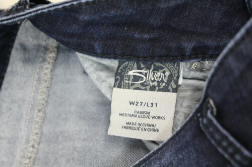 Used Excellent Wash Condition Jeans Silver Womens Dark 27 Skinny 31 Suki Size xw81wq0Sg