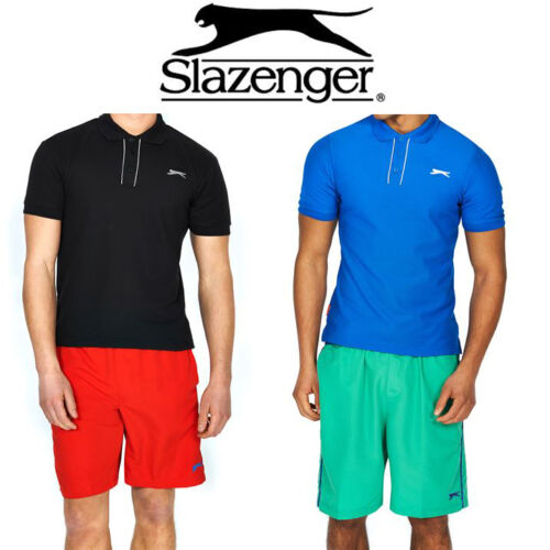 MENS BOYS SLAZENGER SHORT SLEEVE PLAIN POLO SHIRT CASUAL T SHIRT TOP SIZE S M L