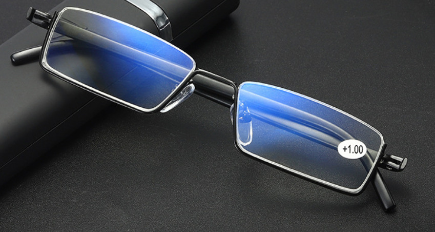Lesebrille Blaulichtfilter Blaufilter Metall Halbrahmen erstklassige Fertigung