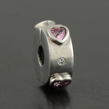 bf71959eb4d2 Authentic PANDORA Explosion of Love Clip Charm Pink CZ 796591FPC for ...