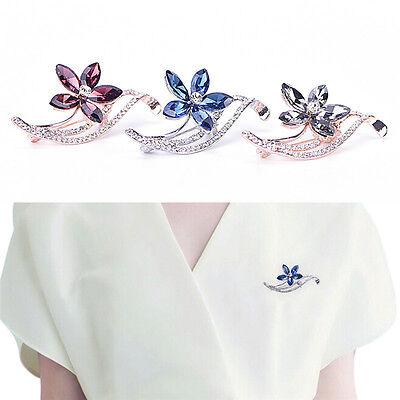 Sélectionnez nouveau Cristal Strass Mariage Mariée Bouquet Argent Fleur Broche Pin
