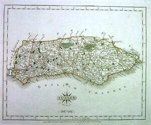 Antique-map-Sussex
