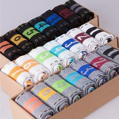 Men's Fashion Casual Dress Socks Cotton Ankle Week Figure Crew Socks 7 Pairs