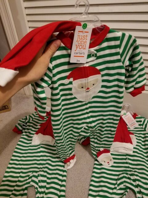 ed9a4fdbbb3b Carter s Just One You Footed Santa Sleeper With Hat Size 3 Months 3m ...