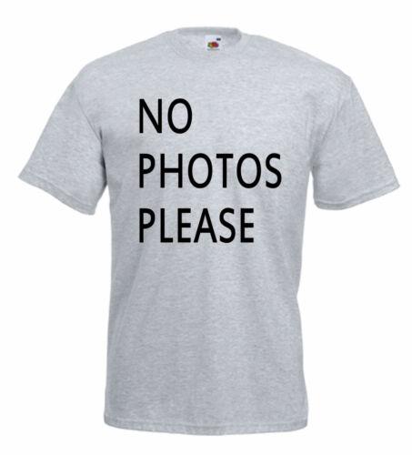 N ° fotos por favor T Shirt Camiseta divertida Comic Hecho En Chelsea inspirado M