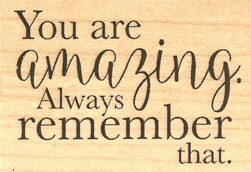 YOU ARE AMAZING Wood Mounted Rubber Stamp IMPRESSION OBSESSION C17140 NEW