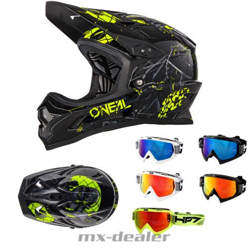 HP7 Brille DH mountainbike MTB Helm 2019 ONeal Backflip RL 2 Zombie Schwarz