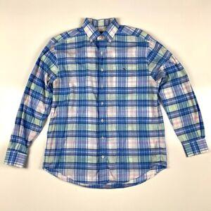 Vineyard-Vines-Mens-Oxford-Shirt-Multicolor-Blue-Plaid-Long-Sleeve-Classic-Fit-M