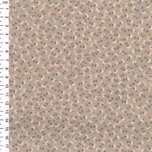 100/% Cotton Poplin Fabric Rose /& Hubble Sun Street Small Ditsy Floral Flowers