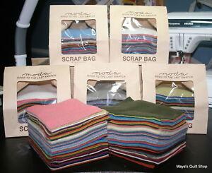 Moda-WOOL-Scrap-Bag-mixed-colors-100-wool-appr-50-rectangles-5-034-x-4-034