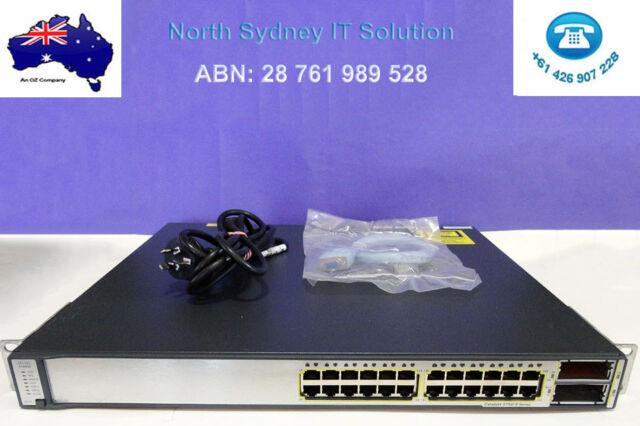 Cisco WS-C3750E-24TD-S Gigabit Switch w/ Brackets, 1 Year Warranty, Invoice