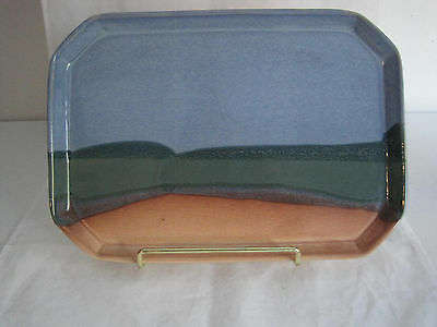 Ojo Sarco Pottery Shallow Serving Tray Dresser Trinket Signed Willson Riggs