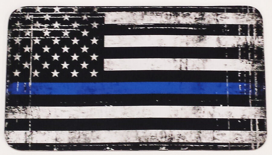 Yeti Tundra 75qt Cooler Pad Police Memorial Thin blueee Line Flag