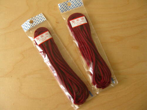 2 x Knotting// Weaving Twine Craft// Draw Cord 3meter Red//Asian knot