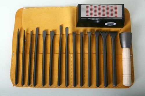 Italian stone carving Fire-Sharp Acier Carbone 17pc Full Carving Set