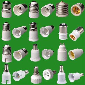 adaptateur douille e27 mr16 b22 b15d gu10 e12 e14 ampoule lampe culot eclairage ebay. Black Bedroom Furniture Sets. Home Design Ideas