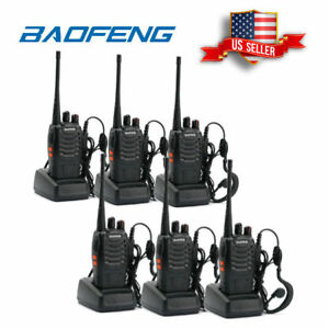 6x Baofeng BF-888s UHF Transceiver 5W Portable HT Two-way Amateur Ham Radio US