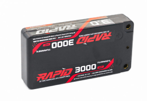 ROAR Approved Turnigy Rapid 3000mAh 2S1P 140C Hardcase Shorty Lipo Battery Pack